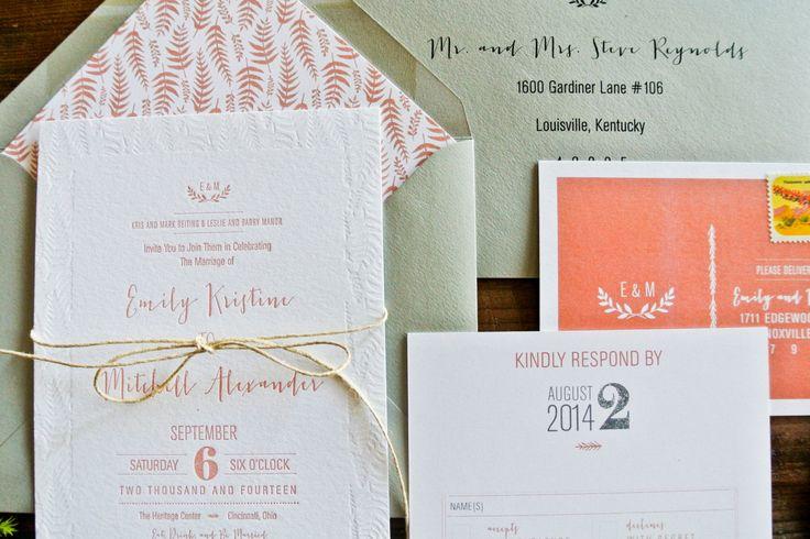 Letterpress Printing Wedding Invitations: 3945 Best Floral Wedding Invitations Images On Pinterest