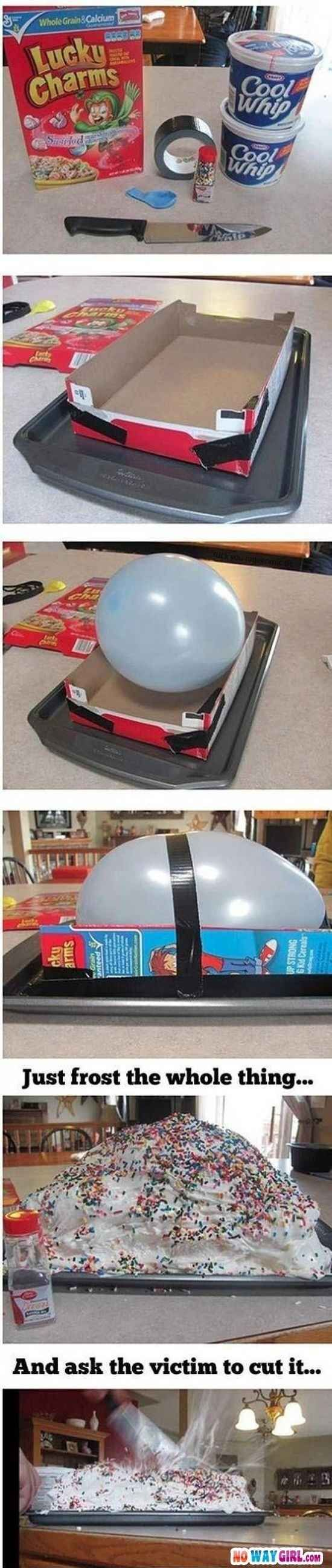 Lastly, if you're feeling really ambitious you can try this outrageous prank.   31 Awesome April Fools' Day Pranks Your Kids Will Totally Fall For