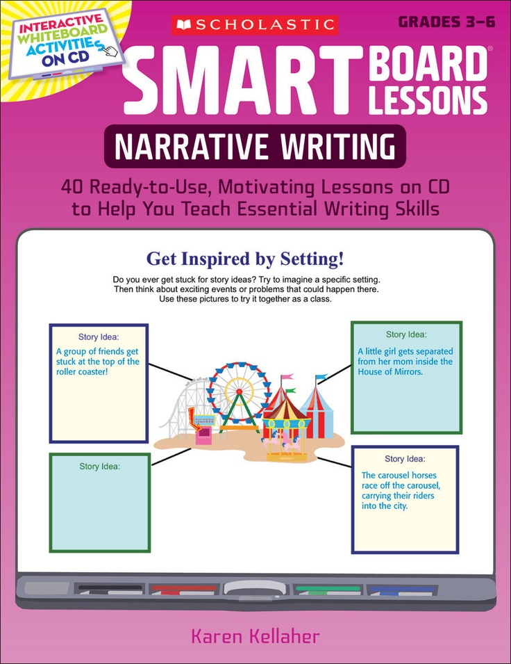 SMART Board™ Lessons: Narrative Writing | Interactive SMART Board lessons focus on developing character, setting, plot, dialogue, and ideas!