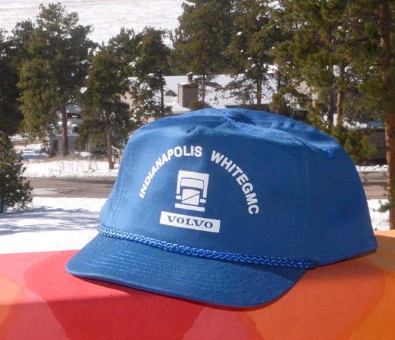 4c25dde0cbd70d 80s vintage trucker snapback hat VOLVO indianapolis gmc baseball cap ...