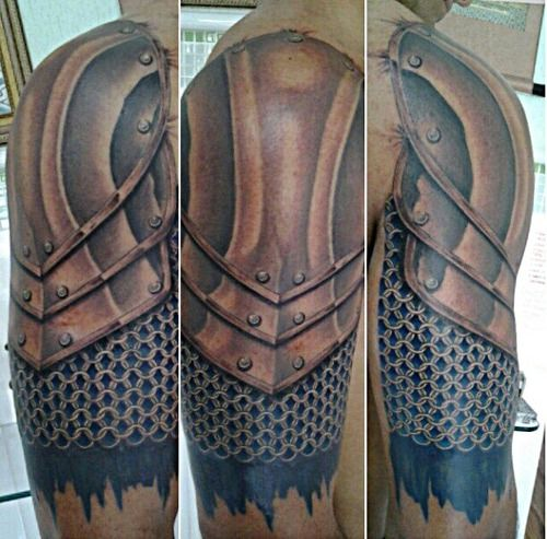armor tattoo tatuagem de armadura fabio king armors sleeve and tattoo studio. Black Bedroom Furniture Sets. Home Design Ideas
