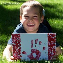 Handprint Canadian Flag - Canada Day Party Activities