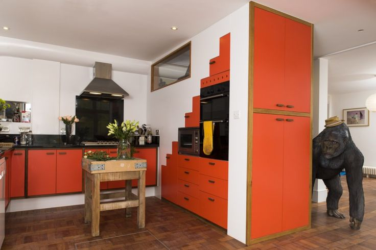 Steuart's functional orange kitchen on MADE.COM Unboxed