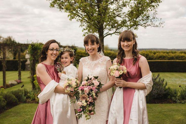 Dusky Pink Bridesmaid Dresses #CainManor #RealWedding #Bijou #BijouRealWedding #Wedding #BarnVenue #HampshireBarn #HampshireWedding #HampshireWeddingVenue #WeddingVenue #Bridesmaids #Pink