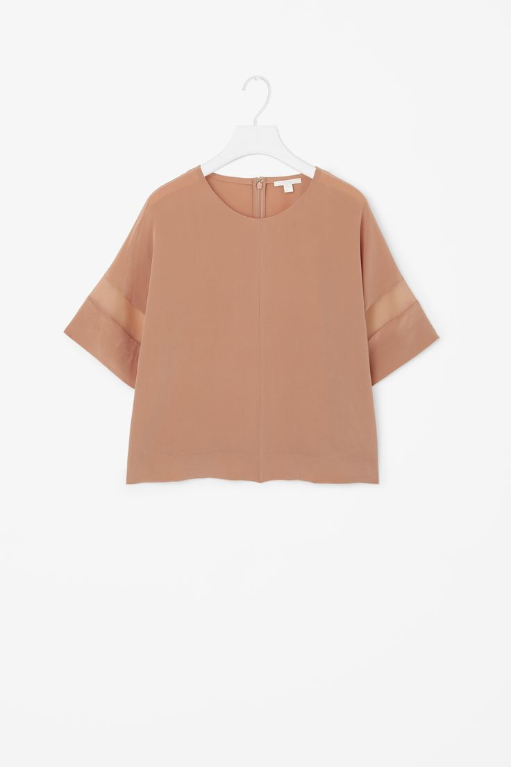 COS | Sheer panelled sleeve top