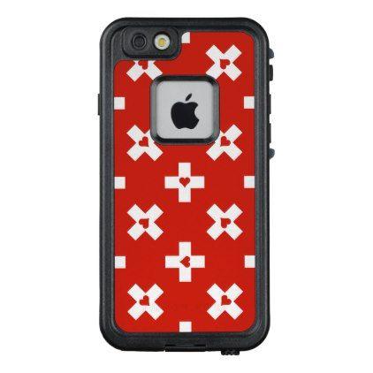 Switzerland Flag with  Heart pattern LifeProof FRĒ iPhone 6/6s Case - modern style idea design custom idea