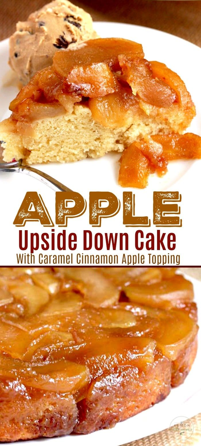 Apple Upside Down Cake Sour Cream Recipes Apple Desserts Easy Upside Down Cake