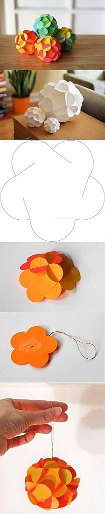 esfera de papel