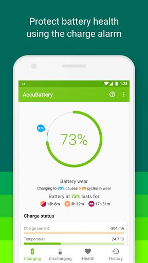 AccuBattery - Battery Health v1.1.8a [Pro]   AccuBattery - Battery Health v1.1.8a [Pro]Requirements:5.0 and upOverview:AccuBattery protects battery health displays battery usage information andmeasuresbattery capacity (mAh) based on science.   Designed to keep your battery in the best shape you can  AndroidHeadlines  AccuBattery protects battery health displays battery usage information andmeasuresbattery capacity (mAh) based on science.   BATTERY HEALTH Batteries have a limited lifespan…