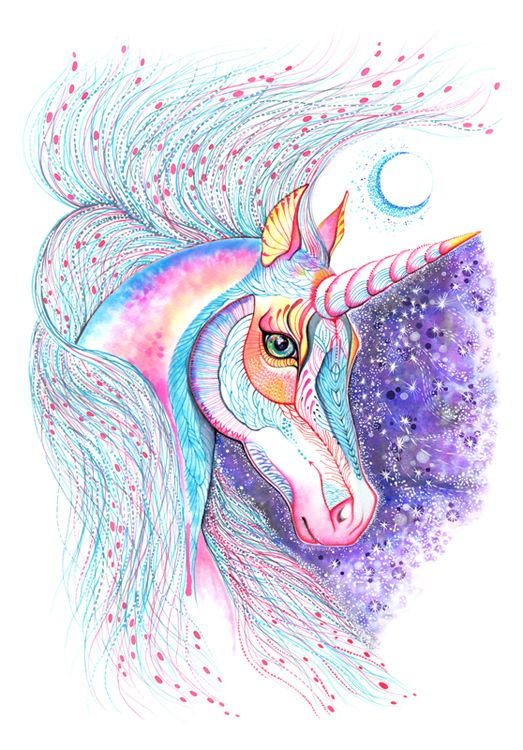 Einhorn by Ola Liola, via Behance