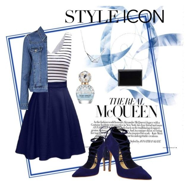 """Stylish Blue"" by sheliniap on Polyvore featuring Schutz, Topshop, Marc Jacobs and Nine West"