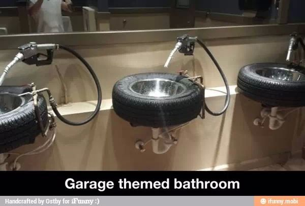 Bathroom idea for the man cave
