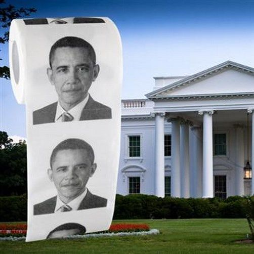 President Barack Obama Toilet Paper Roll ~ Gag Gift Prank Joke