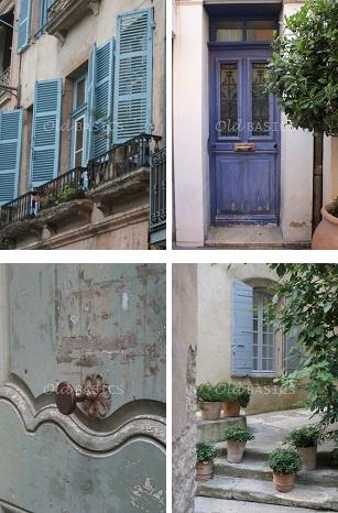Oude luiken: Franse sfeer, blauw