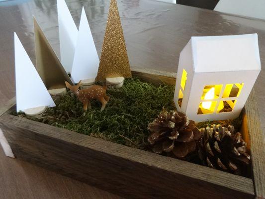 Centre de table de Noël A l'orée du bois - DIY by Fée Plaisir