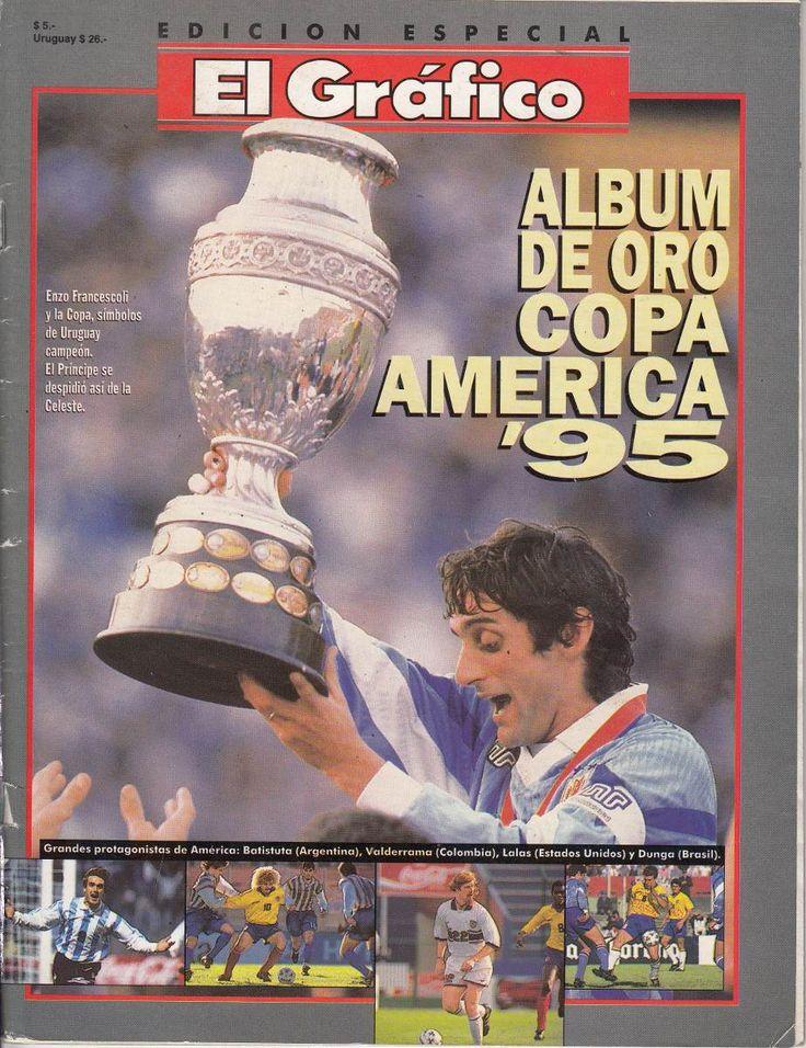 futbol-copa-america-1995-album-el-grafico-uruguay-campeon