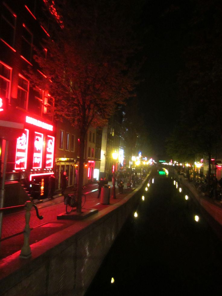Amsterdam, red light district, canal