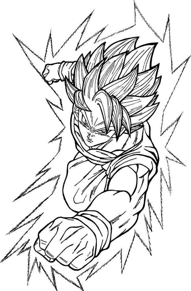 Imagenes De Goku Y Sus Transformaciones Para Colorear Colorear Imagenes Goku Super Saiyan Goku Dibujo De Goku