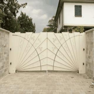 Beautiful automatic driveway gate.