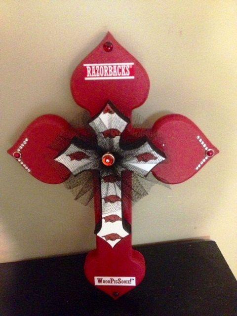 Arkansas Razorback Cross