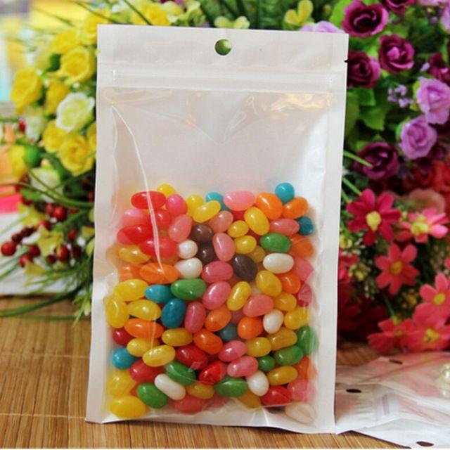 10 unids 3-side Ziplock Bolsa de Comida De Plástico de Envases de Plástico de Calidad Alimentaria bolsa/Zip Lock Bolsas De Plástico/bolsa de Envases de Plástico Para La Merienda