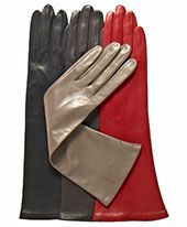 Extending about six inches beyond the wrist, these women's gloves are ideal for dressy occasions that require something shorter and subtler than the traditional opera length. Fine stitching, smooth lines and unadorned styling make this a perfect choice for ladies seeking gloves with no buttons, vents or decorative details, just the finest black Italian lambskin leather in a simple, classic longer glove style. These leather gloves for women are crafted in the standard six-button length by ...