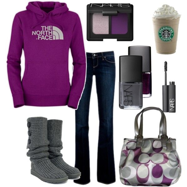 Outfit: Ugg, Coach Pur, Coach Bags, Style, Clothing, Fall Outfits, Nike Shoes, The North Faces, Boots