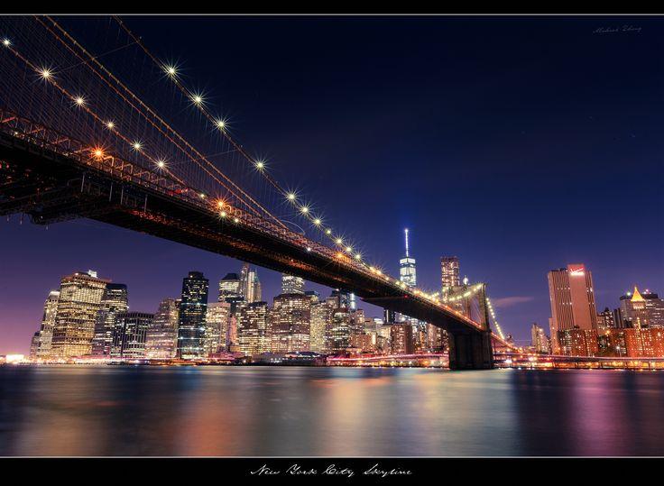 Photograph Brooklyn Bridge at Night by Michael Zheng on 500px