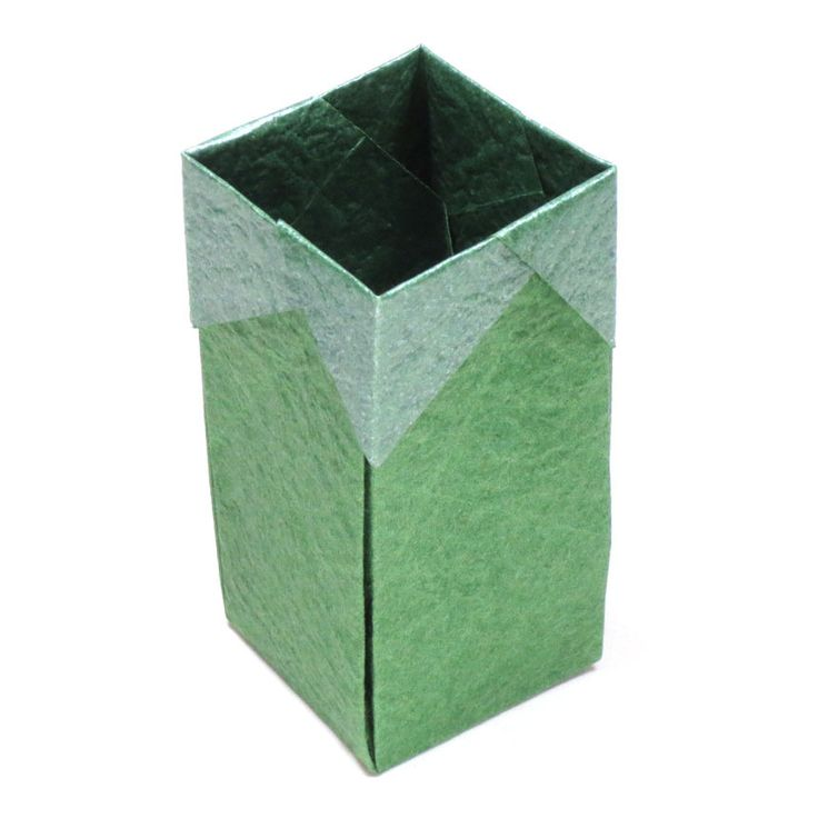 How to make a tall square origami box (http://www.origami-make.org/origami-box-square-tall.php)