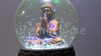 The praying figure. The video shows the character of Asian božstva.Siddhártha Guatama Buddha or Buddha. He was the founder of one of the three most widespread world religions - Buddhism.