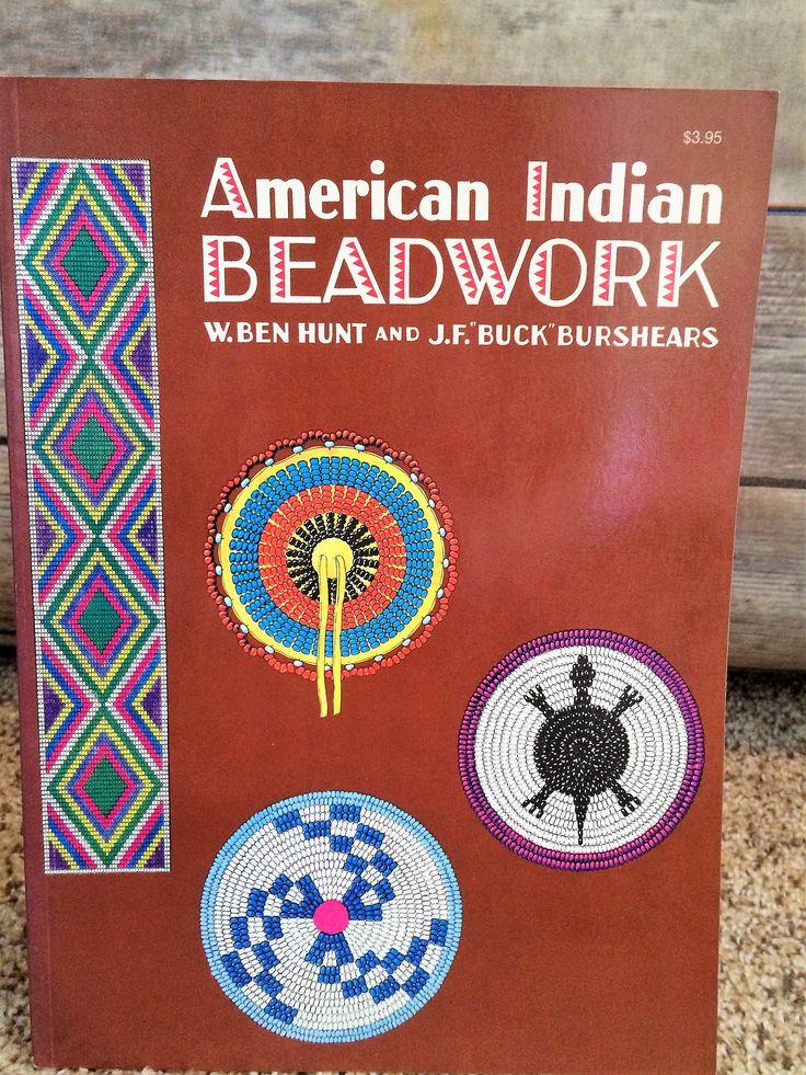 """American Indian Beadwork, by Ben Hunt and J.F. """"Buck"""" Burshears 1976 by CobbWebbTreasures on Etsy"""