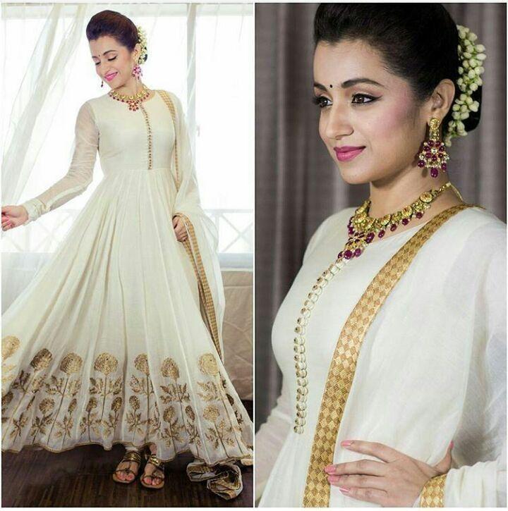 RapidDukan Semi-Stitched White Color Anarkali Salwar Suit Dupatta Material||SF601