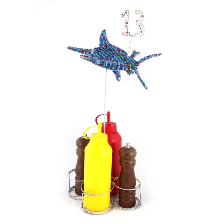 Marlin Fish Sauce Holder and Table Number | Stribal CafeStribal Cafe