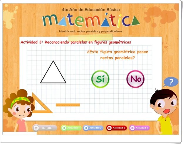Identificando Rectas Paralelas Y Perpendiculares Juego De Geometria De Primaria Paralelas Y Perpendiculares Juegos Geometria Juegos De Matematicas