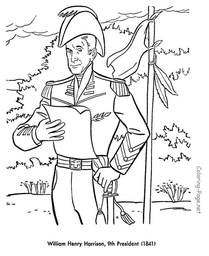 all 44 presidents coloring pages - photo#43