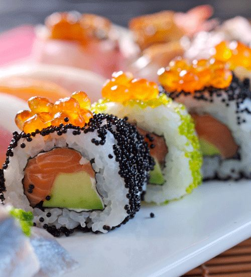 Nothing's better than enjoying a guilty pleasure. #foodie #sushi