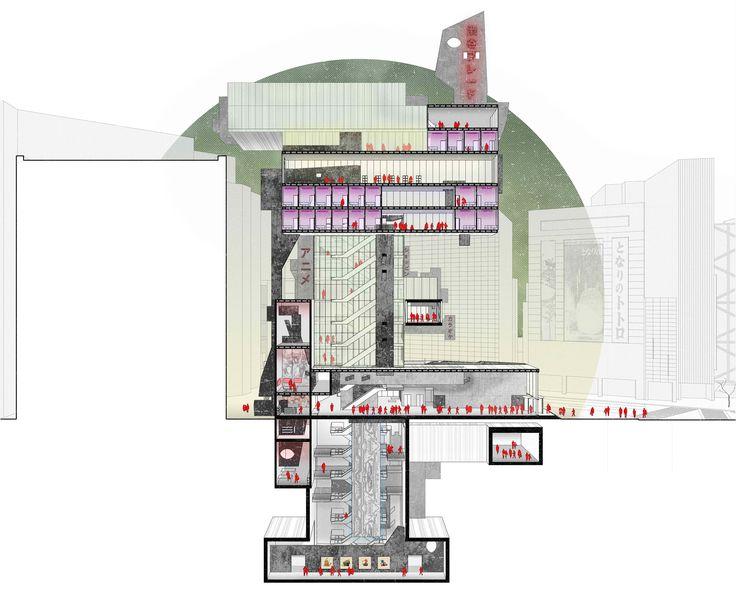 #sectionalperspective #shibuya #photoshop #tower