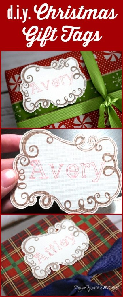 DIY Christmas Gift Tags made with your Silhouette (includes a sketch pen tutorial! | Designer Trapped blog