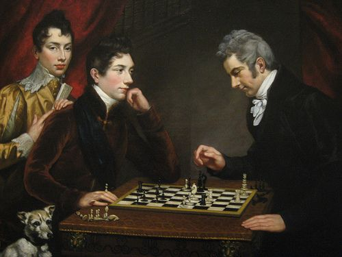 Chess Players by James Northcote, British, 1746-1831