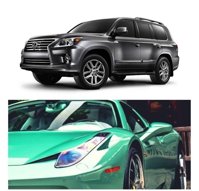 Dream Cars: Lexus truck and Lamborghini