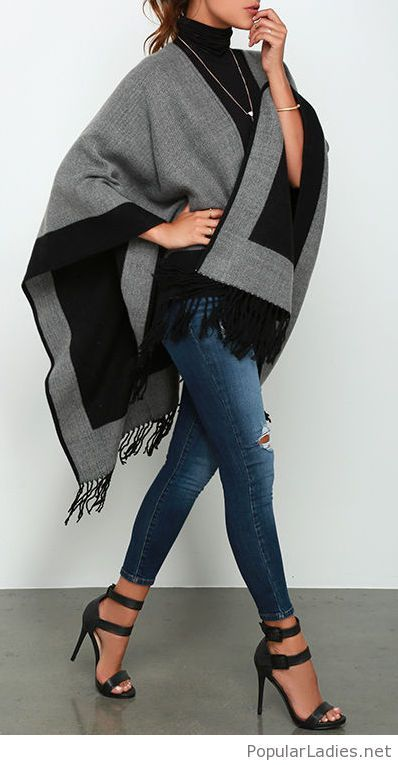 interesting-poncho-and-sandals-design