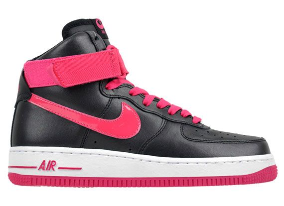 553426d05a7 black and pink nike high tops