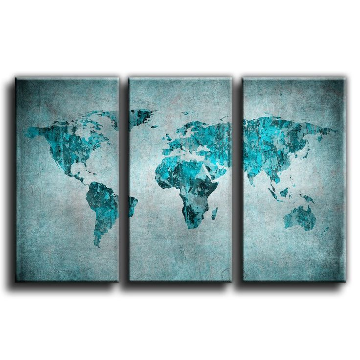46 best world map ideas images on pinterest old world maps canvas culture vintage world map canvas art print treble box framed picture 4 aqua 90x60cm sciox Gallery