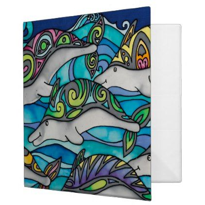 "Avery 2"" Ring Binder: Dolphin Series 3 Ring Binder - office organization cyo custom personalize name"
