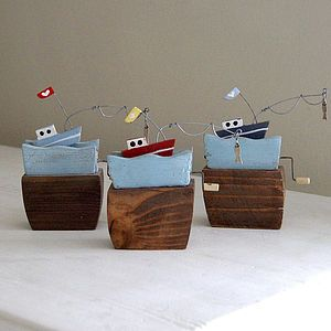 Fishing Boat Upon The Waves - decorative accessories