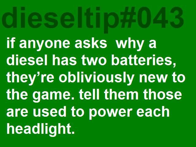 That's actually why there are two batteries.  No lie