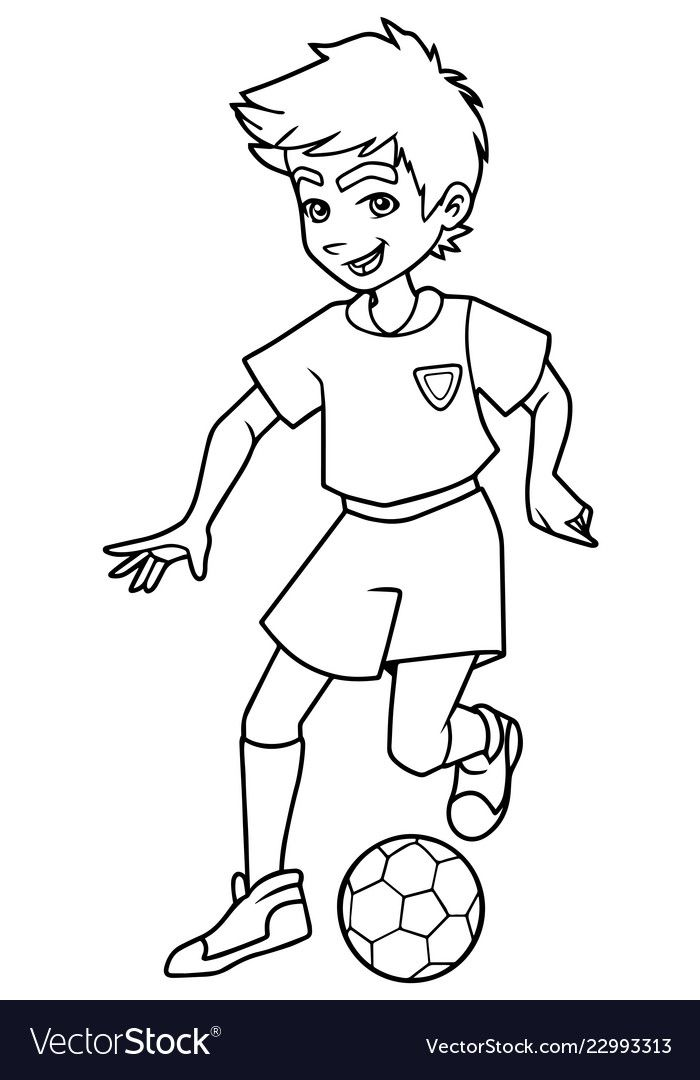Soccer Coloring Pages - free printables for kids | 1080x700
