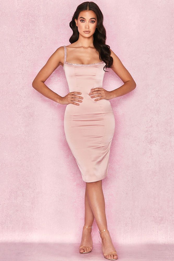 f369758d68844 HOUSE OF CB  Camilla  Pink Satin Dress with Hand Sewn Crystals S 8   10 MA  365  fashion  clothing  shoes  accessories  womensclothing  dresses (ebay  link)