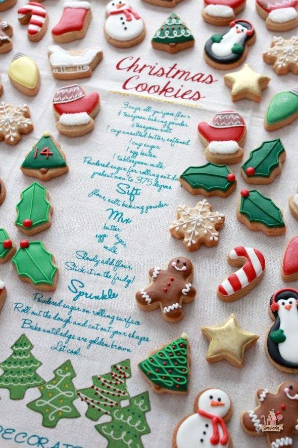 Miniature Christmas Cookies and Recipe ~ Sweetopia