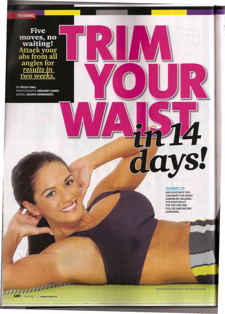 Great ab exercises in Oxygen Magazine - July 2012Ab Exercise